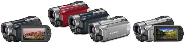 Canon VIXIA HF R11, VIXIA HF R10 (available in red, blue and silver) and VIXIA HF R100