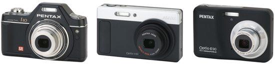Pentax Optio I-10, Optio H90 and Optio E90