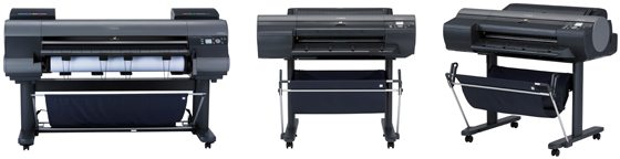 Canon ImagePROGRAF iPF8300, iPF6350 and iPF6300 Printers