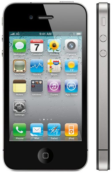 Apple iPhone 4 Front and Side View