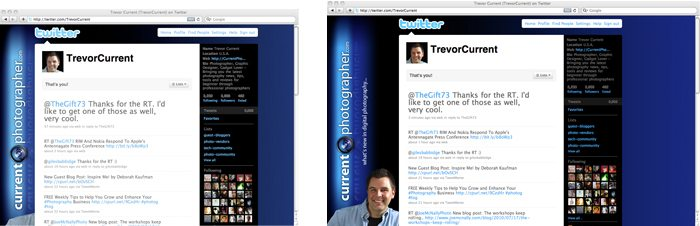 "Twitter Page Viewed on a 14.1"" and 13"" Screen"