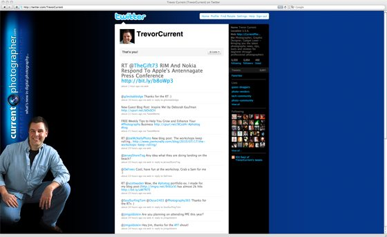 "Twitter Page Viewed on a 23"" Screen"