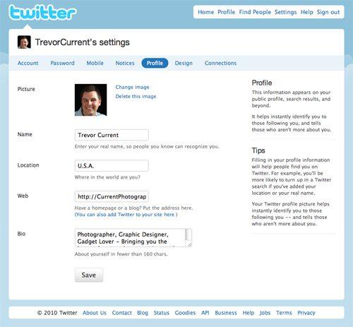 Twitter Profile Tab