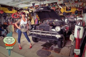 Go Behind-the-Scenes of a Hot Rod Garage Pinup Girl Photo Shoot: by Boudoir Louisville