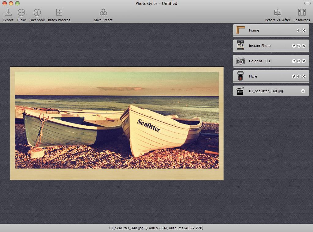 PhotoStyler ScreenShot